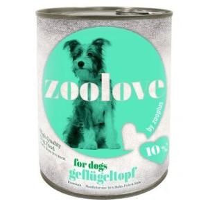 Vorratspaket: zoolove Hundenahrung 24 x 800 g - Geflügeltopf
