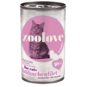 Vorratspaket: zoolove Katzenfutter 24 x 140 g - Hühnchenfilet