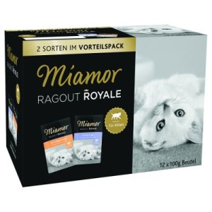 Vorteilspack Miamor Ragout Royale Jelly Kitten 12 x 100 g - Geflügel und Rind in Jelly