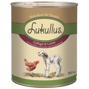Vorzugspaket Lukullus Nassnahrung 6 x 400 g + Cookie's 200 g - Geflügel & Lamm