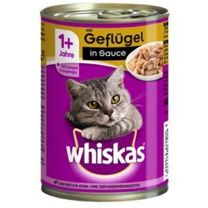 Whiskas 1+ Dosen 12 x 400 g - 1+ Geflügel in Sauce