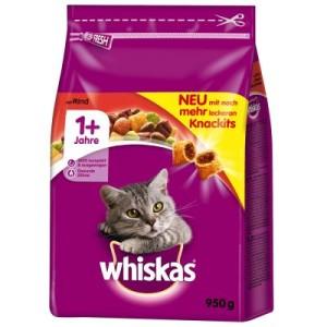 Whiskas 1+ Rind - Sparpaket: 2 x 950 g