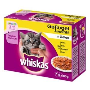 Whiskas Junior Frischebeutel 12 x 100 g - Geflügelauswahl