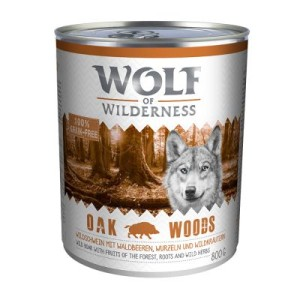 Wolf of Wilderness 6 x 800 g - Oak Woods - Wildschwein