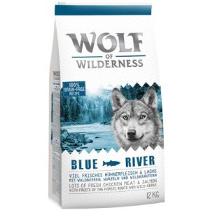"Wolf of Wilderness ""Blue River"" - Lachs - Doppelpack 2 x 12 kg"