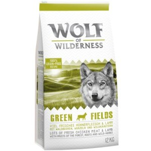 "Wolf of Wilderness ""Green Fields"" - Lamm - Doppelpack 2 x 12 kg"