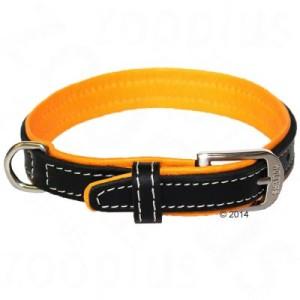 Wolters Halsband Terranova schwarz/mango - Gr. 55: Halsumfang 45 - 50 cm