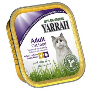 Yarrah Bio Bröckchen in Soße 6 x 100 g - Huhn & Truthahn mit Aloe Vera