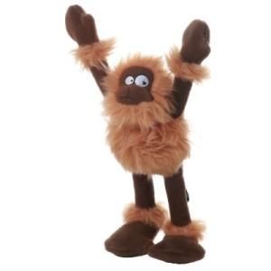 goDog Hundespielzeug Crazy Tug Sasquatchers braun - L 31 x B 9 x H 6 cm