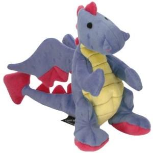 goDog Hundespielzeug Dragons Periwinkle blau - L 31 x B 9 x H 22 cm