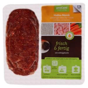 proCani BARF Huhn Menü - mit Karotten und Reis - 20 x 2 x 200 g