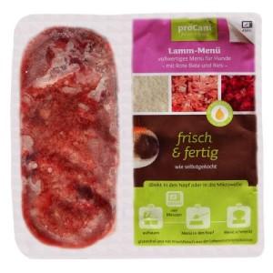 proCani BARF Lamm Menü - mit rote Beete und Reis - 40 x 2 x 200 g