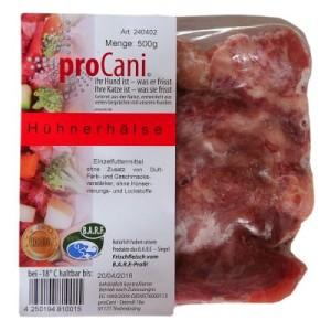 proCani Hühnerhälse - 42 x 500 g