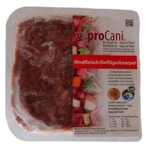 proCani Rindfleisch-Geflügelknorpel für Katzen - 60 x 400 g