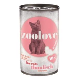 zoolove Katzennassfutter Thunfisch - 6 x 140 g