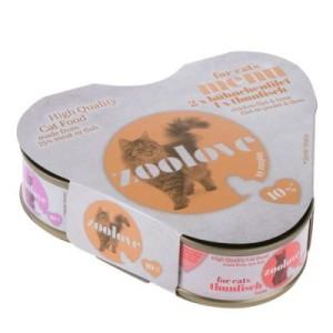zoolove Probierbox: Hühnchen und Thunfisch - 3 x 70 g