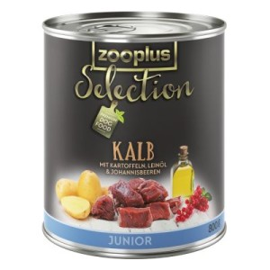 zooplus Selection Junior Kalb - 6 x 400 g
