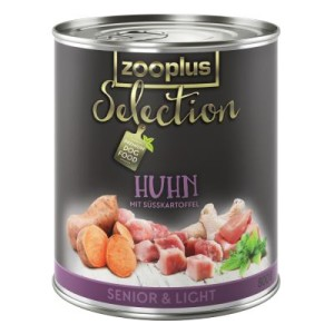 zooplus Selection Senior & Light Huhn - 6 x 400 g